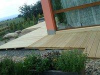 Dřevěná terasa z dřeviny sibiřský modřín