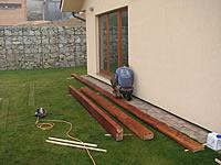 Venkovní terasa akát