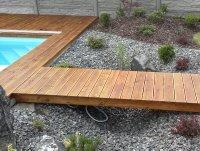 Sibiřský modřín je velmi oblíbená dřevina pro venkovní použití jako jsou fasády a terasy