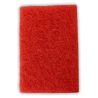 červeným padem se provádí mezibrus mezi prvním a druhým nátěrem