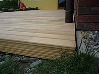 Důležité ukončení teras. Akátová terasová prkna