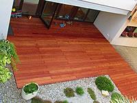 Merbau je velice kvalitní odolná exotická dřevina. Dodává se i v hladké variantě