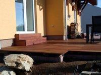 Dřevěná terasa z exotické dřeviny Merbau