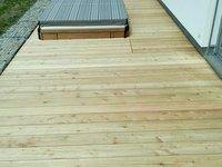 Dřevěná terasa ze sibiřského modřínu