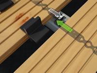 terasová úchytka pro neviditelný spoj dřevěné terasy